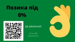 Позика під 0%. Позика без відсотків. Кредит без переплат